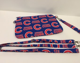 Chicago Cubs Clutch with Additional Crossbody Strap