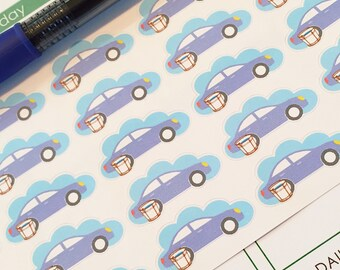 25 Car Wash Planner Stickers- Wash Car Reminder Stickers- perfect in your Erin Condren, Plum Paper, wall calendar or scrapbook