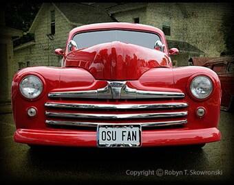 OSU FAN - Red 1947 Ford Sedan 4x6 photo