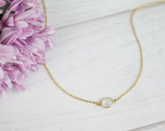 Moonstone Choker Moonstone Necklace June Gemstone Necklace June Birthstone Necklace Stone Necklaces White Necklace June Birthday