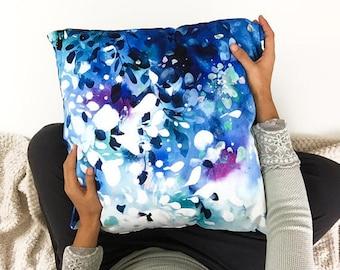 Cushion Cover Blue Decorative Cushions Throw Pillows Living Room Decor Decorative Cushions Contemporary Modern Home Decor CreativeIngrid