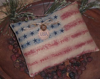 Individually Priced Primitive Patriotic Rustic USA July 4th THANK YOU Americana American Flag Bowl Fillers Ornies Tucks Shelf Sitters