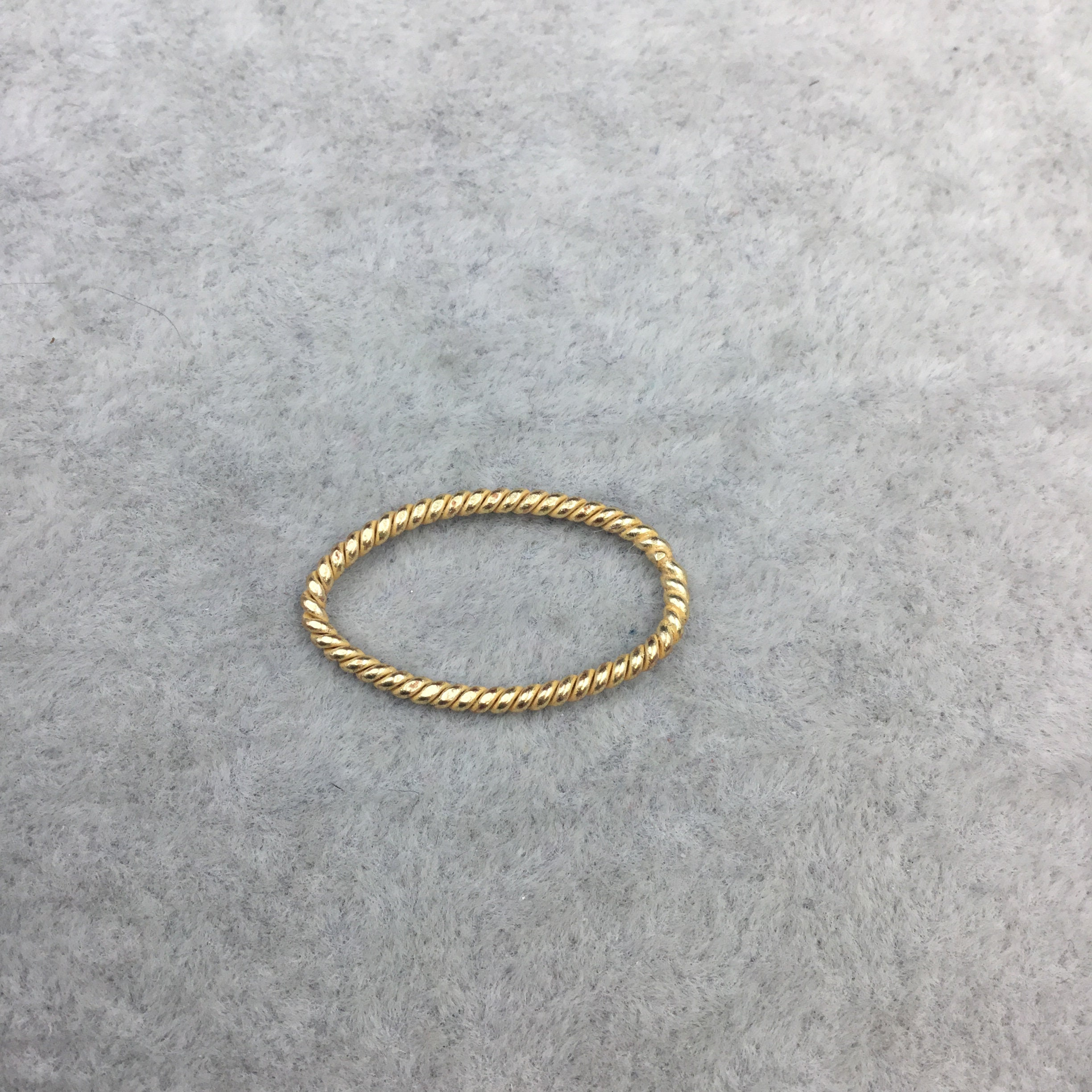 15mm x 25mm Gold Finish Open Twisted Wire Marquise Shaped Plated ...