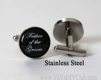 Wedding gift for Father of the Groom Cuff links, Father of Groom Cufflinks, Father of the groom gift , Father of the groom cuff link