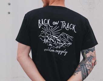 Back on Track tee black