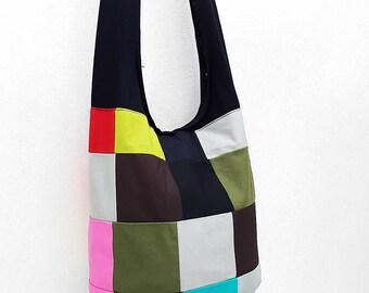 Women bag Handbags Thai Cotton Canvas bag Hippie bag Hobo bag Boho bag Patchwork bag Sling bag Shoulder bag Tote Crossbody bag Purse PWC18
