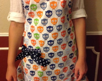 "Mommy & Me ""Owl"" Adult Apron"