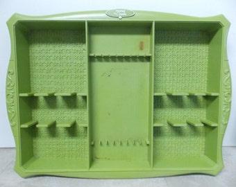 Mod Mid Century Profile by Oneida Plastic Avocado Green Flatware Tray