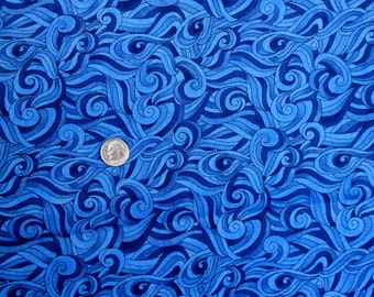 1 yard of Beautiful 100% Cotton for Quilting in Blues