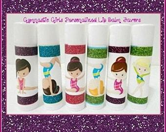 GYMNASTICS Girls Lip Balm - Gymnastics Team Gifts - Gymnastics Party Favors - Free Personalization - Individual - You Select The Quantity