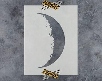 Crescent Moon Stencil - Reusable DIY Craft Stencils of a Crescent Moon