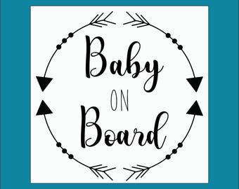 Baby On Board Sticker Decal Vehicle Window