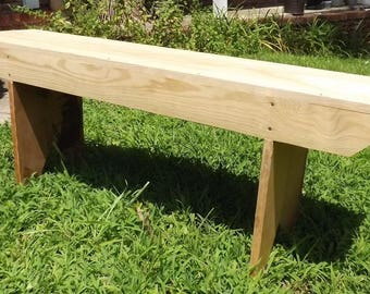 Farmhouse Country Rustic Bench - Unfinished