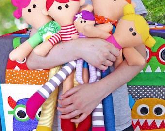 My Family PDF Doll Pattern   Patterns   Kids   Cloth Dolls   Rag Dolls   Toys   Soft Toys   Kids Dolls   Easy Doll Pattern