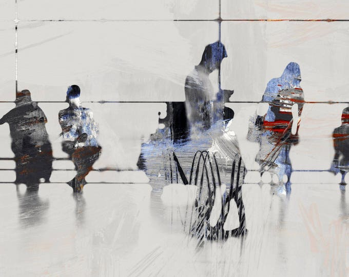 AIRPORT XXX - Mixed Media Art by Sven Pfrommer - Artwork is ready to hang