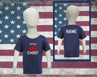 Personalized Toddler Firefighter Shirt Little Chief