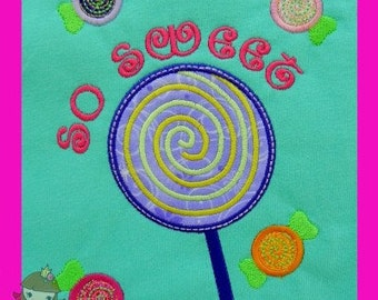 Lollipop & Candy Applique design