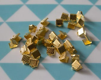 Set of 20 caps claw 6 mm for bracelets, MULTISTRAND gold