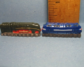 LOCOMOTIVES Train Engines locomotive engine trains  - French Feve Feves Porcelain Doll House Miniatures EE70
