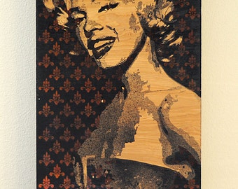 Marilyn Monroe Multilayer Graffiti Stencil Art Painting