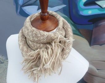 Natural Tones Knitted Scarf