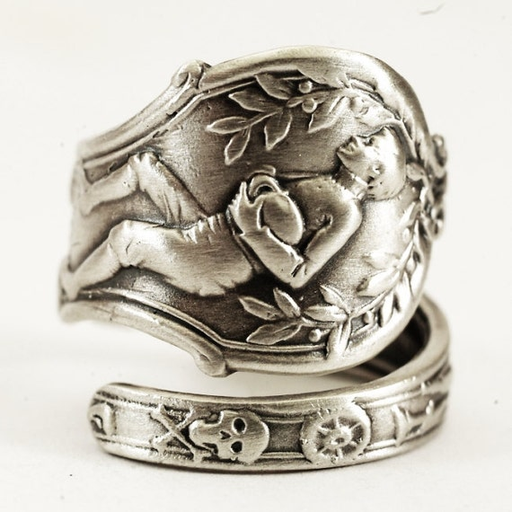 Rugby Gift Sterling Silver Spoon Ring Football Ring Masonic