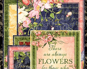 FLORAL SHOPPE Ephemera and Journaling Cards by Graphic 45