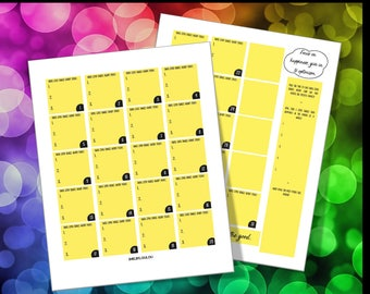 Big Happy Planner Monthly Layout - Journaling, 3 Good Things Daily (Yellow)