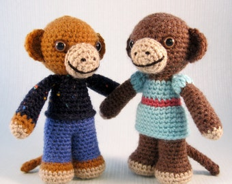 Little Monkey Amigurumi Pattern PDF - Crochet Pattern