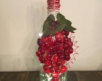 Grape Bunch Wine Bottle Light