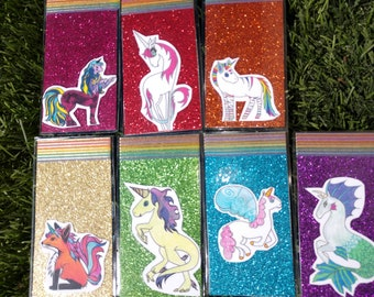 Day Of The Week Unicorn mini Bookmarks (set of seven)