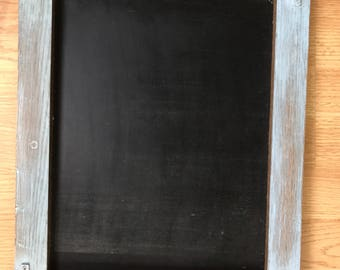 Handmade Rustic stained and chalk paint chalkboard