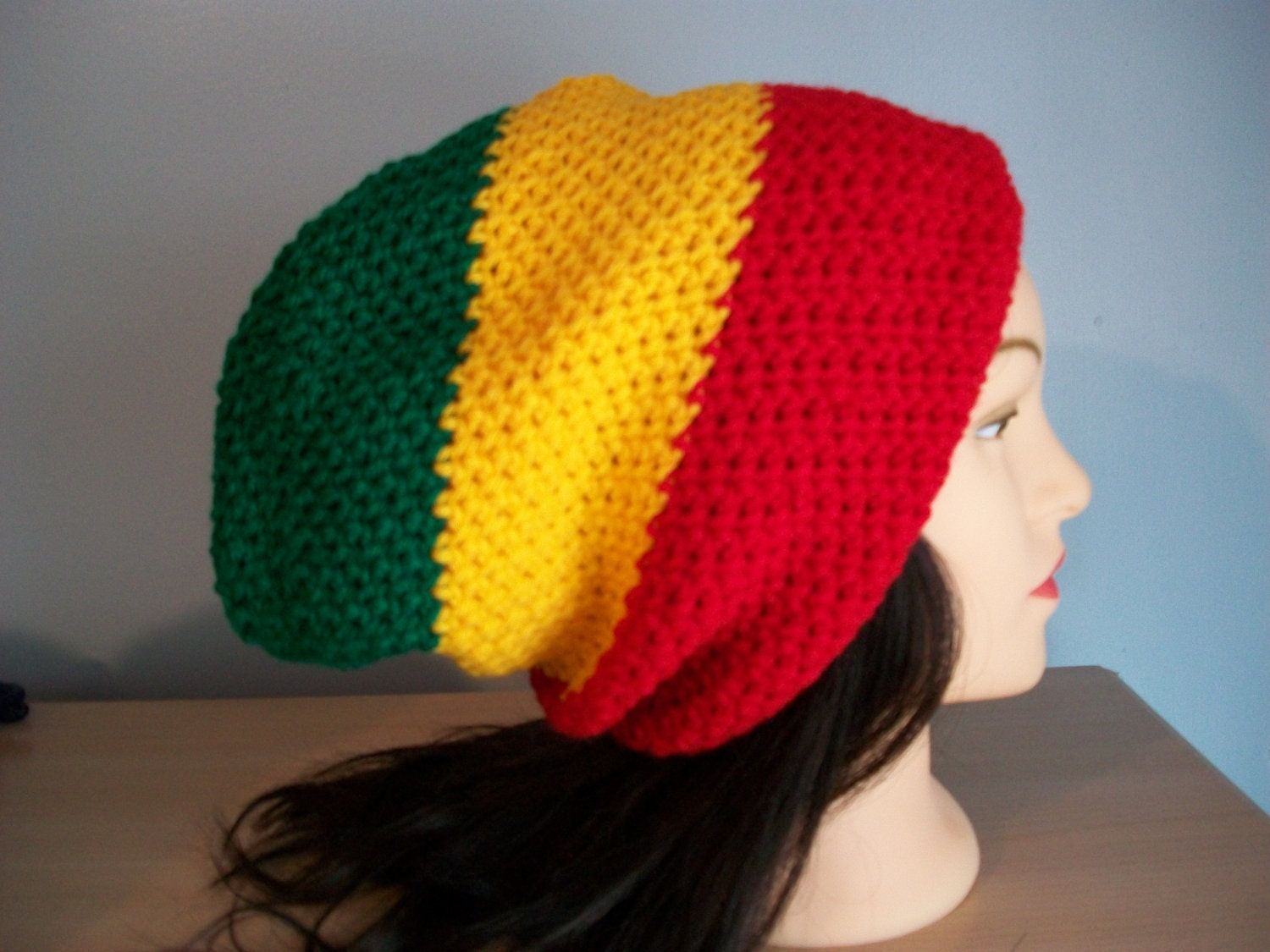 Luxury Rasta Knit Hat Pattern Vignette - Easy Scarf Knitting ...