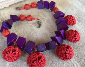 Purple and Red- Cinnabar Flowers