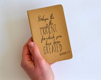 Esther 4:14 Small Moleskine Cahier Journal Bible Notebook Pocket