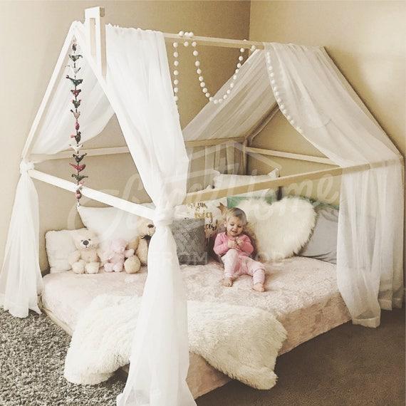 Marco casa cama cuna Montessori nursery casa de madera niño