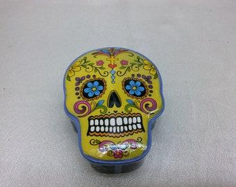 Day of the dead holding box. Sugar skull box.
