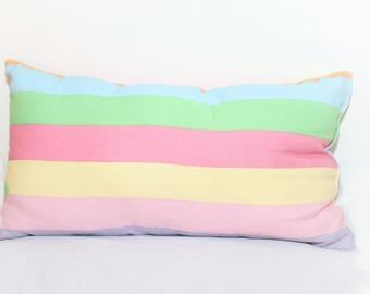 Easter Rainbow Lumbar Throw Pillow