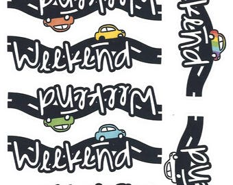 Weekend Road Trip || Planner Stickers