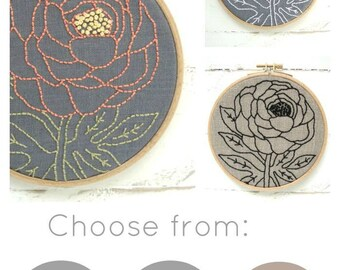 Embroidery Kit, DIY Embroidery, Hand Embroidery Kit, Floral Embroidery, DIY Embroidery Kit, Beginner Embroidery, Flower Embroidery, Hoop Art