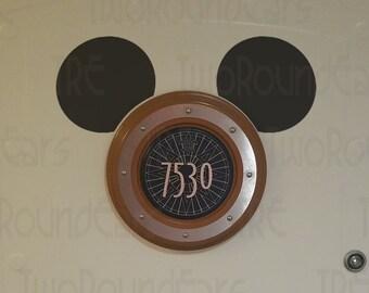 DCL Stateroom Door Porthole Ears - Mickey Ears