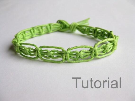 Easy Knotted Bracelet Instructions Pdf Macrame Pattern Green