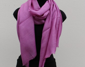 Silk Cashmere Scarf - Orchid