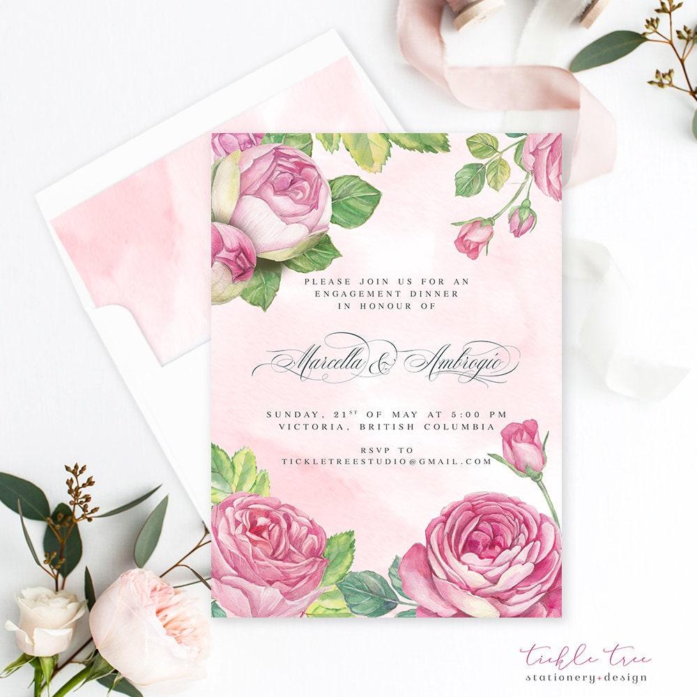 Vintage Rose - Wedding Invitations (Style 13694)