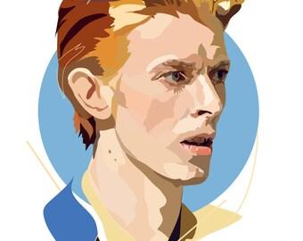 David Bowie - Starman - Art Print