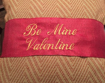 Valentine Pillow Ribbon