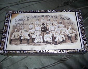 Sporting Times - League Champions 1888 Cigar Box Baseball Stadium