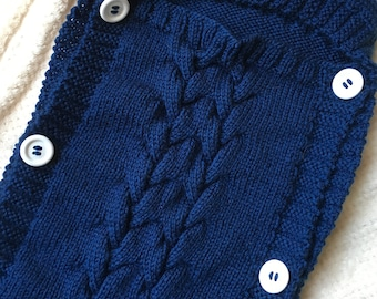 Baby Bunting Bag - Knitting Pattern - Instant Download