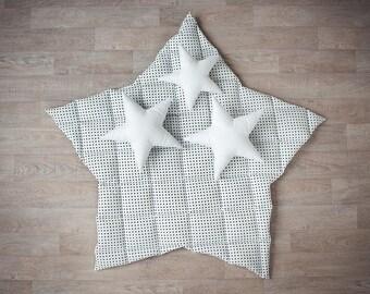 Star shaped play mat - kids room decor - nursery gym mat