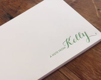 Personal Stationery, Personal Note Cards, Letterpress Note Cards, Letterpress Stationery